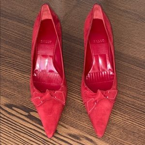 BALLY Red Suede Heels